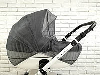 Москитная сетка на коляску Z&D с окошком на змейке (Серый), фото 1