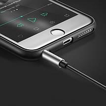 AUX 3.5mm разветвитель/сплиттер Ugreen AV123 аудио кабель (Чёрным с серебристым, 20см), фото 3