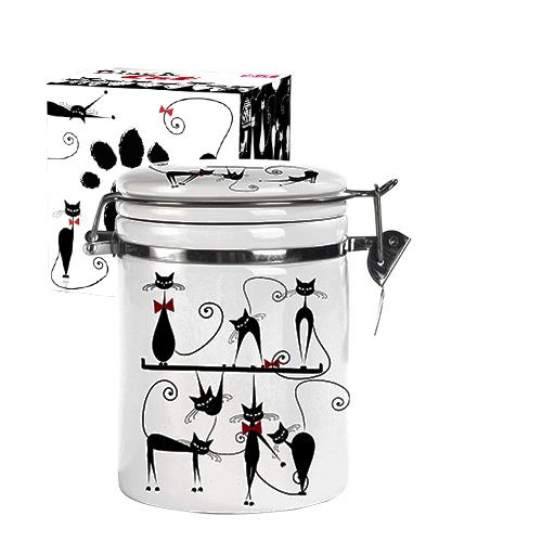 Емкость для сыпучих продуктов 0,75л S&T Черная кошка 629-12 S&T