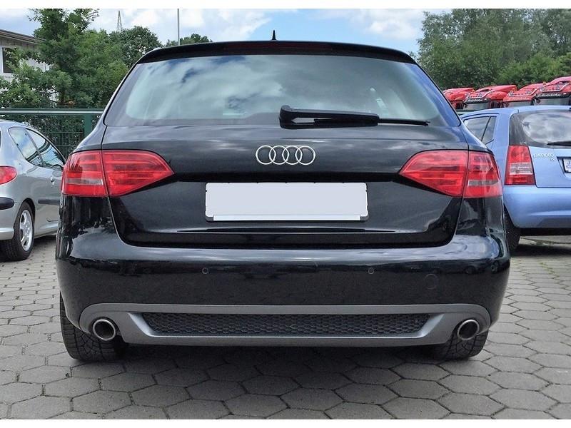 Диффузор заднего бампера Audi A4 B8 limousine / avant S-line с вырезами на две стороны (рест.)