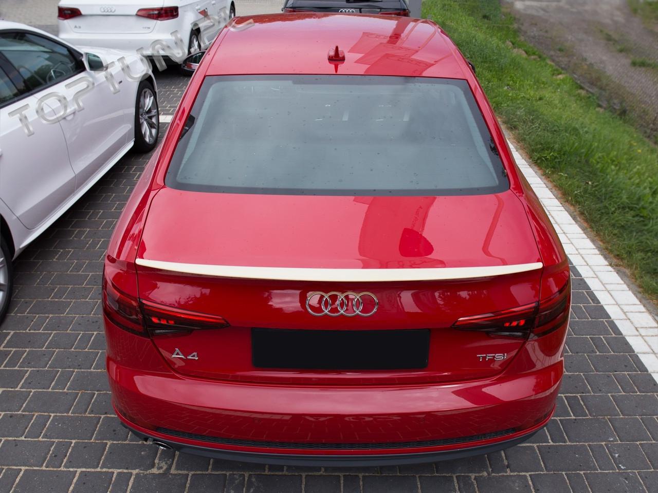 Спойлер (липспойлер) крышки багажника Audi A4 B8 Sedan