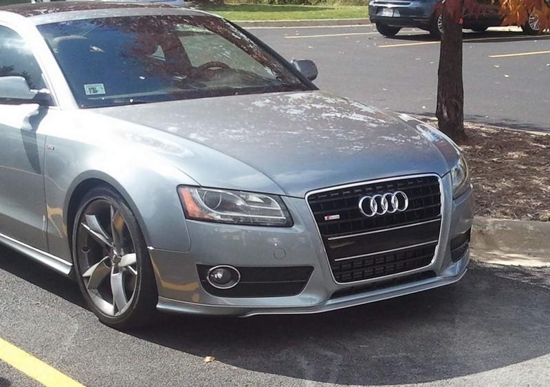 Накладки на передний бампер Audi A5 Coupe / Sportback стиль Votex