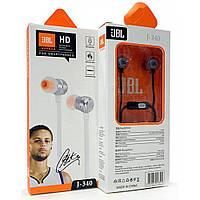 Навушники вакуумні з мікрофоном JBL J340 Super Bass