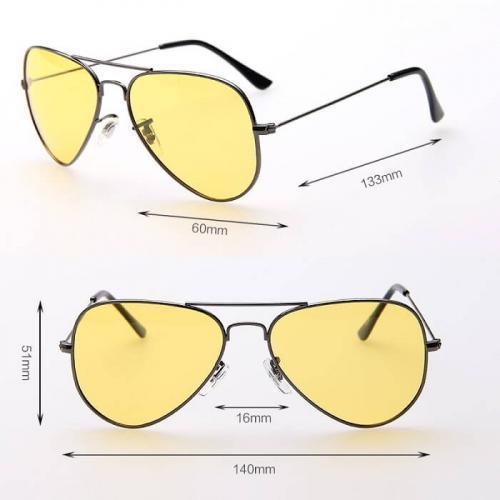 Антибликовые очки для водителей в стиле Авиатор Night view NV, хамелеон