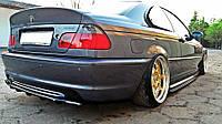 Центральная накладка на задний бампер BMW 3 E46 Coupe M-pack