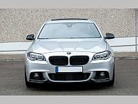 Накладки на передний бампер BMW F10 M-Pakiet (из двух частей)
