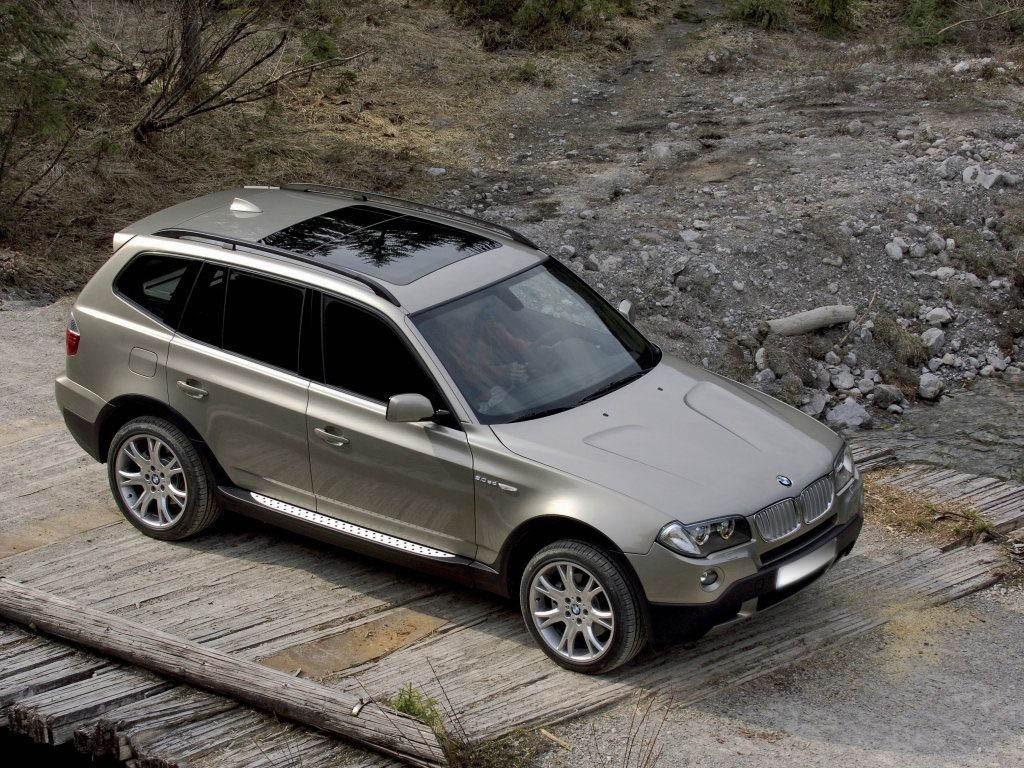 Пороги (подножки боковые) BMW X3 E83