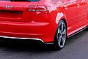 Боковые диффузоры заднего бампера Audi RS3 8P, фото 2