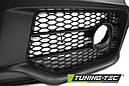 Бампер передний Audi A4 B7 стиль RS (решетка black-chrome), фото 3