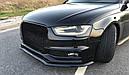 Диффузор переднего бампера Audi S4 B8 Facelift вер.1, фото 4