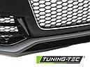 Бампер передний AUDI A5 RS5 стиль (черный с хромом), фото 4