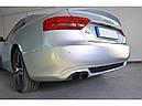 Диффузор заднего бампера Audi A5 coupe S-line с одним вырезом, фото 4