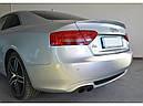 Диффузор заднего бампера Audi A5 coupe S-line с одним вырезом, фото 7
