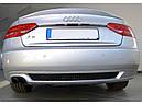 Диффузор заднего бампера Audi A5 coupe S-line с одним вырезом, фото 8