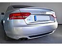 Диффузор заднего бампера Audi A5 coupe S-line с одним вырезом, фото 9