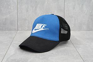 Кепка тракер с сеточкой Nike (логотип с буквами) (голубой)