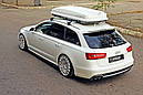 Центральная накладка на задний бампер Audi A6 C7 S-line Avant, фото 4