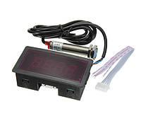 Электронный тахометр цифровой бесконтактный с датчиком приближения NPN