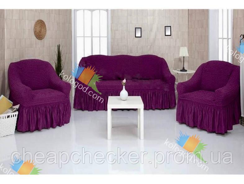 Чехлы на Диван и 2 Кресла с Оборкой Модель 225