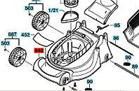 Корпус двигуна до газонокосилки ROTAK 320 BOSCH
