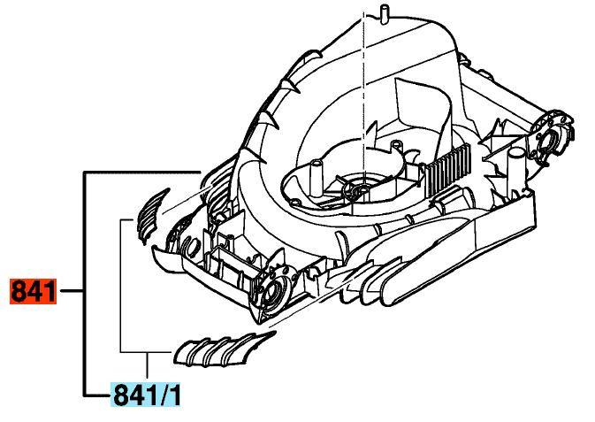 Корпус двигуна до газонокосилки ROTAK 34 BOSCH