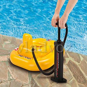 Насос ручной для надувного бассейна, матраса, лодки повышенной мощности Intex dublequick 3 68605 37с, фото 2