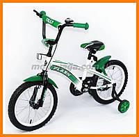 Двухколесный велосипед для ребенка, цвет зеленый
