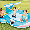 """Детский надувной бассейн """"Кит"""" INTEX 57440 201х196х91см с распылителем, фото 5"""