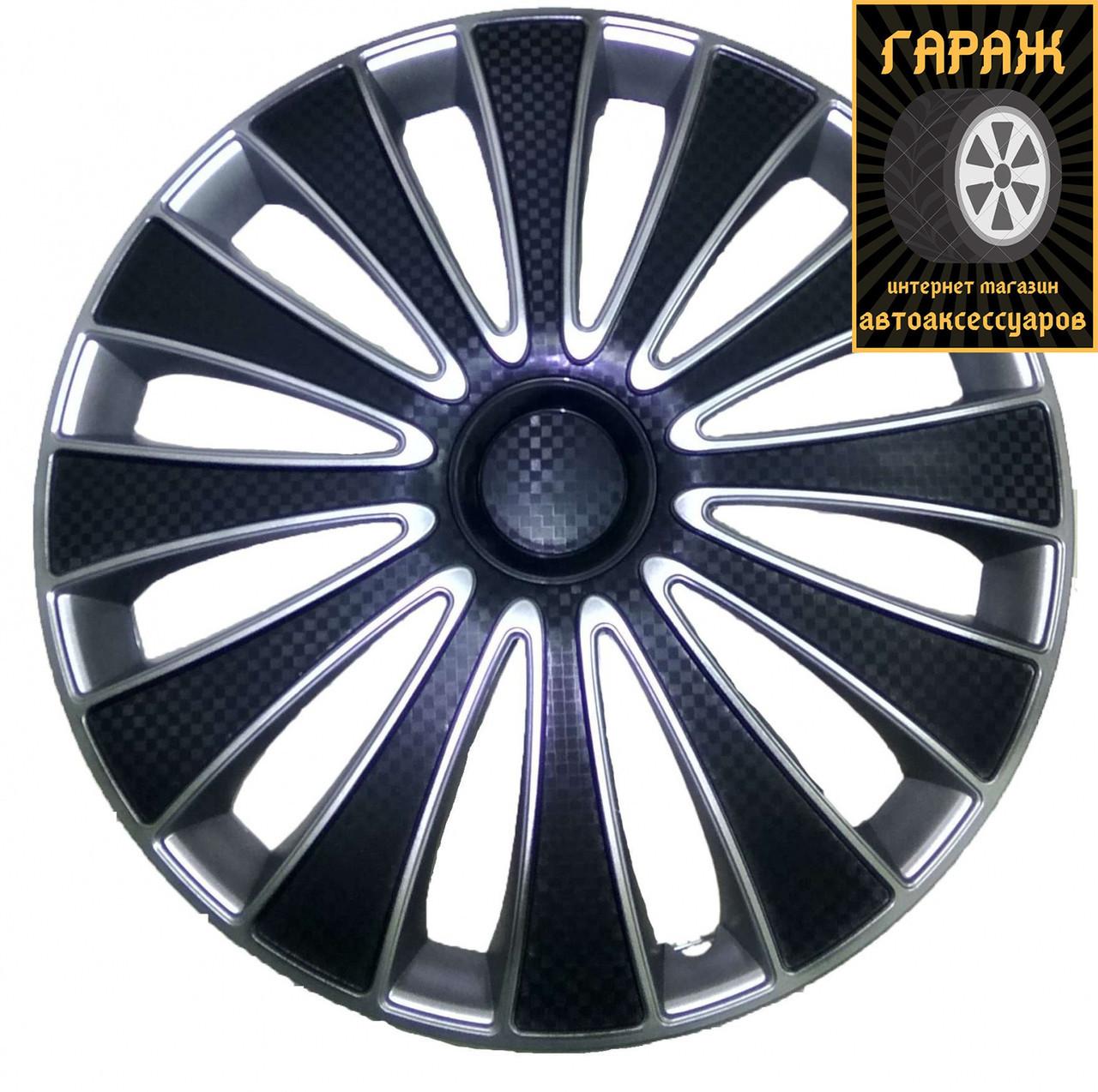 Колпаки R14 Star GMK Super Black (карбон)