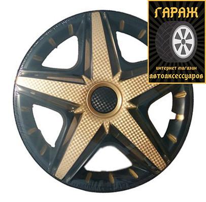 Колпаки R14 Star NHL Super Black Gold (карбон)