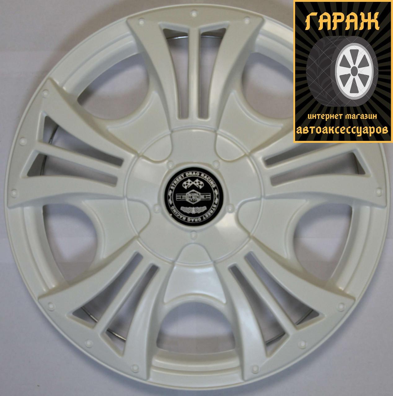 Колпаки R14 Star Бумер White