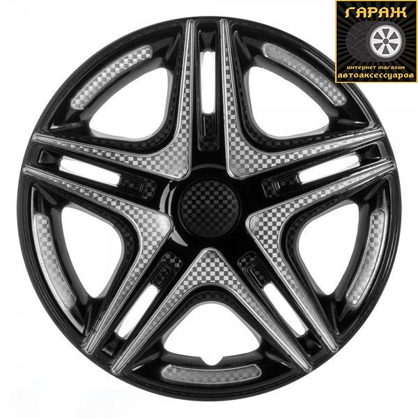 Колпаки R14 Star Дакар Super Black (карбон)
