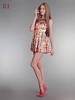 Платье летнее короткое в цветах 01, фото 1