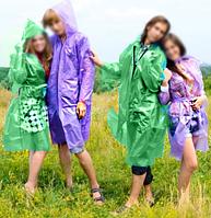 Плащ-пончо длинный рукав полиэтиленовый цвет зеленый