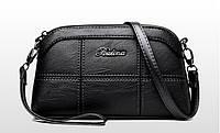 0700  Женская сумка Эко кожа  черный