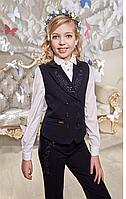 Брюки школьные для девочки Мерил (116,128,134р) (Suzie)Сьюзи Украина синие БР-29701