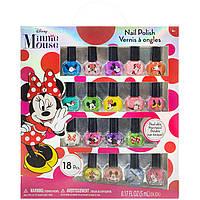 Детская косметика лак для ногтей Минни Маус 18 штук TownleyGirl Disney Minnie Mouse 18 Pack Nail Polish Set