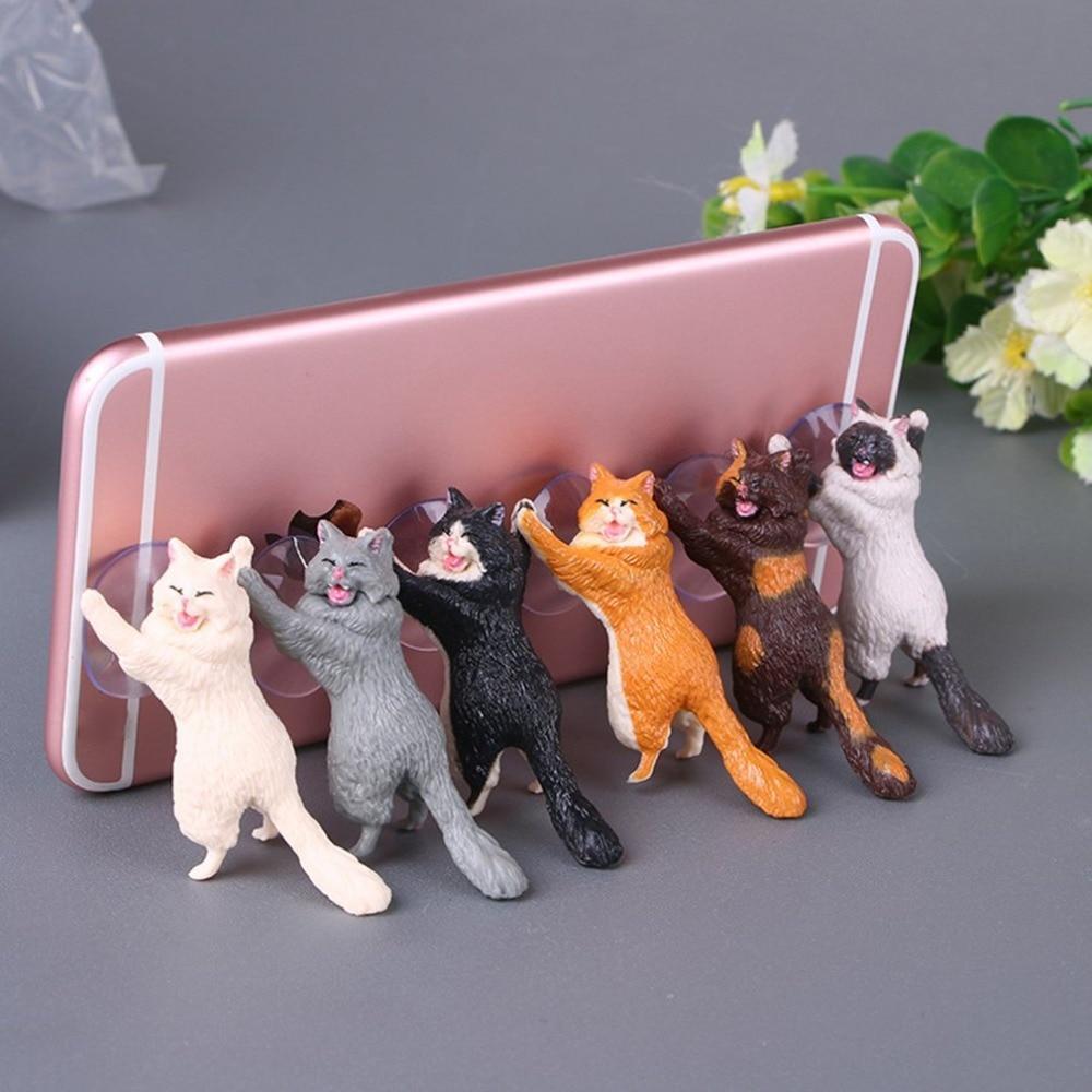Универсальный держатель-подставка для телефона милый кот на присоске