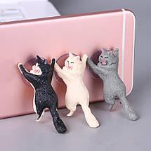 Универсальный держатель-подставка для телефона милый кот на присоске, фото 3
