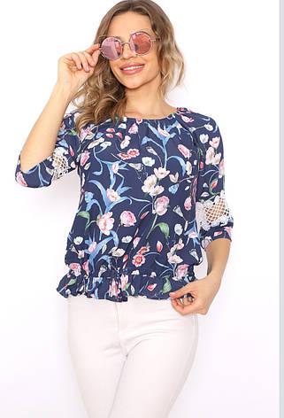 Нарядна літня блузa на резинці Cremona, фото 2