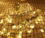 LED гірлянда 8 режимів 10м 100LED тепле світло, фото 6