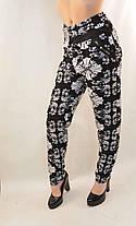 Штани жіночі літні з квітковим візерунком Штани жіночі на літо, фото 3