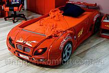Кровать-машинка Форсаж красный