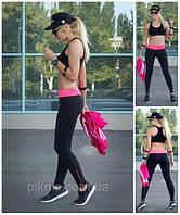 Лосины спортивные, леггинсы для фитнеса модель Klassik с молнией, фото 1