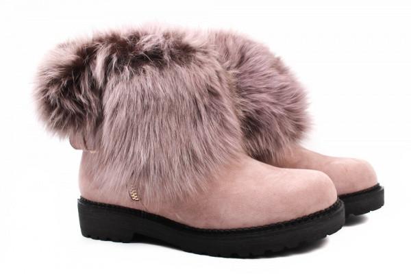 Ботинки Maria Moro натуральная замша, цвет розовый