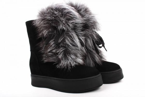 Ботинки Mario Moro натуральная замша, цвет черный