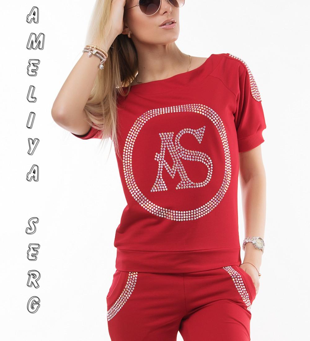 f164b599223270 Брендовый турецкий гламурный спортивный костюм женский реглан Турция  красный - Оптово-розничный интернет-магазин