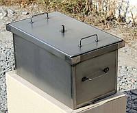 Коптильня с гидрозатвором для горячего копчения окрашенная (520х300х280), фото 1