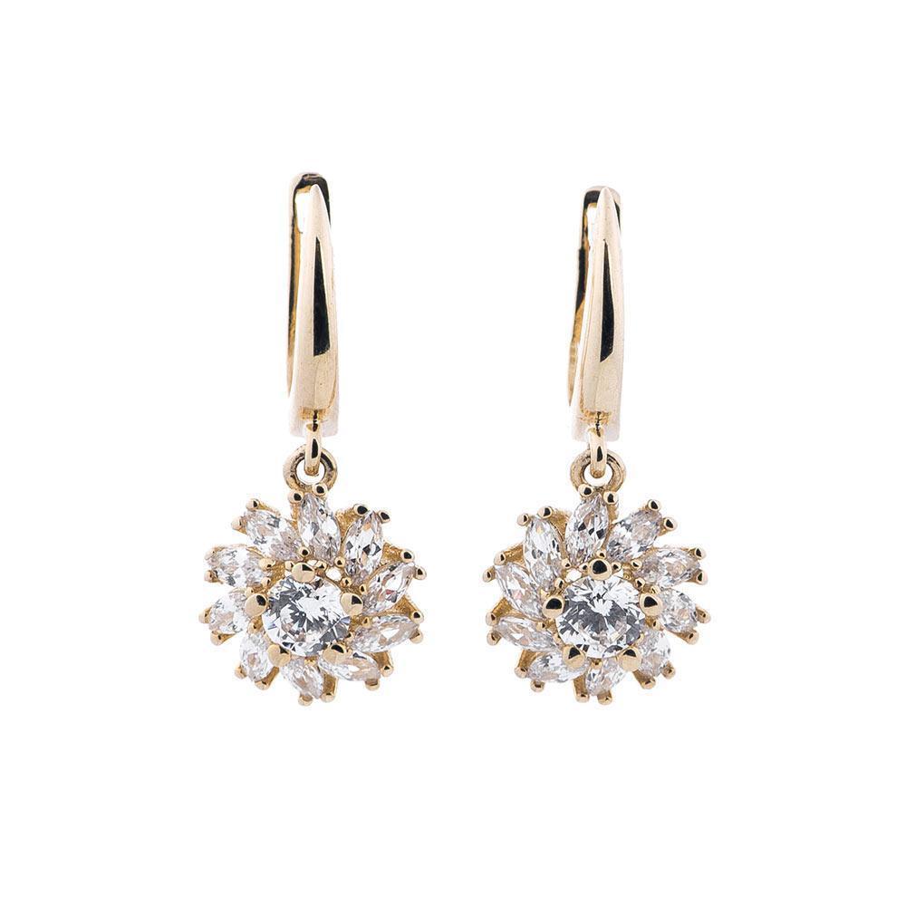 Золоті сережки з фіанітами гс04464