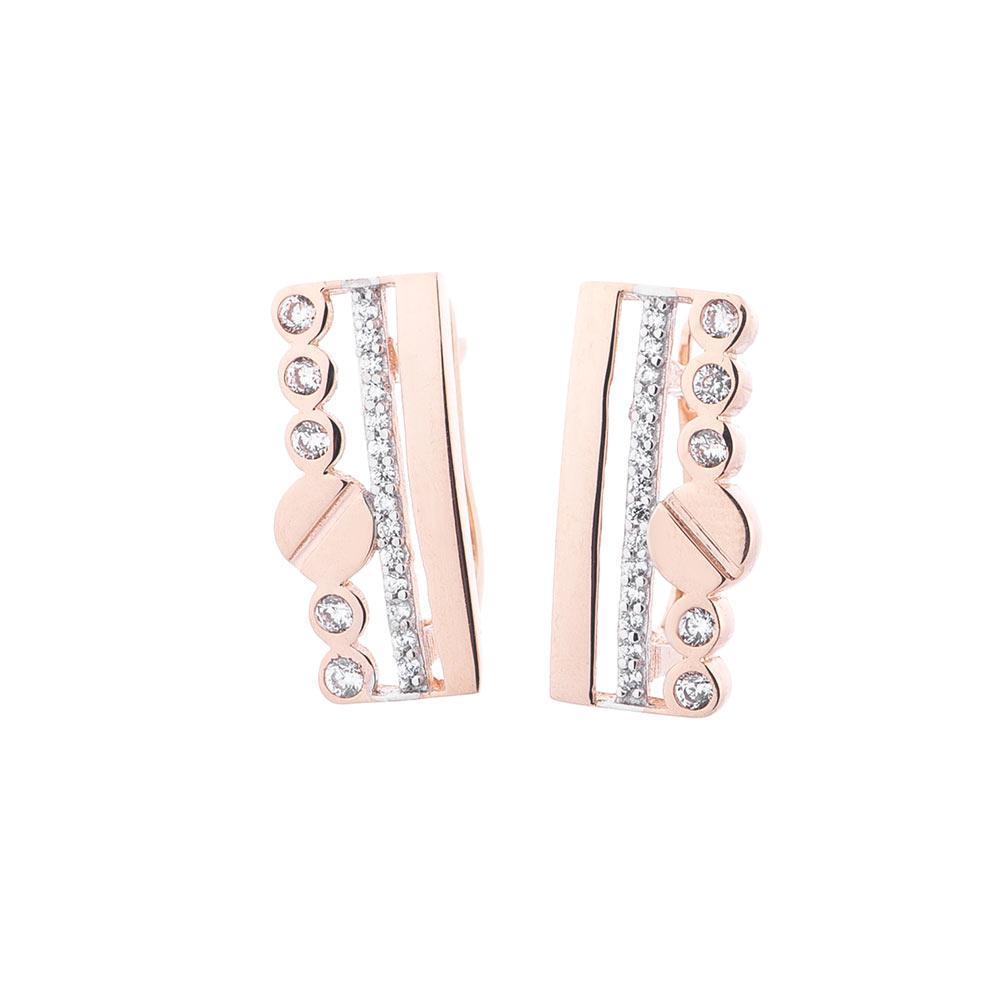 Золоті сережки з фіанітами гс05201